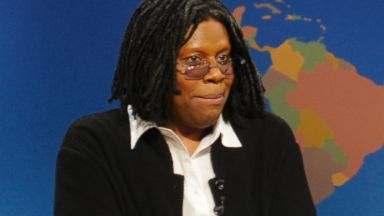 PHOTO: Kenan Thompson dressed as Whoopi Goldberg, and Seth Meyers
