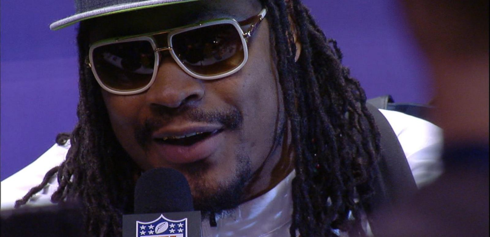 "VIDEO: ""Deflate-gate"", Marshawn Lynch Steal Show at Super Bowl 49 Media Day"
