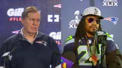 VIDEO: The Patriots coach and Seahawks running back have a lot to say, and it sounds so good