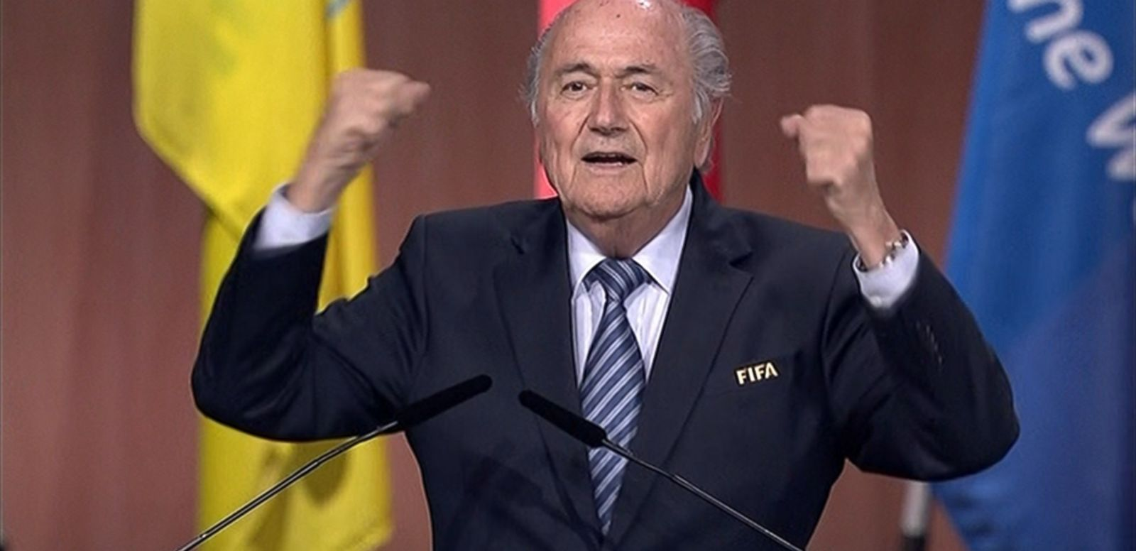 VIDEO: Blatter was re-elected to a fifth term over Prince Ali Bin Al-Hussein of Jordan amid allegations of corruption and bribery in the soccer organization's governing body.