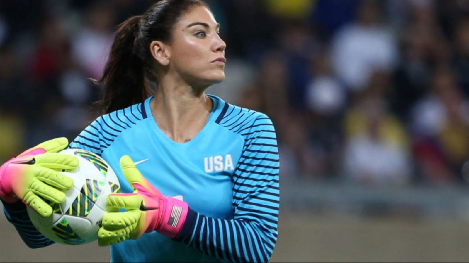 U.S. women's goalkeeper Hope Solo was suspended Wednesday for six months by U.S. Soccer for disparaging comments about Sweden following the Americans' early departure from the Rio Olympics.
