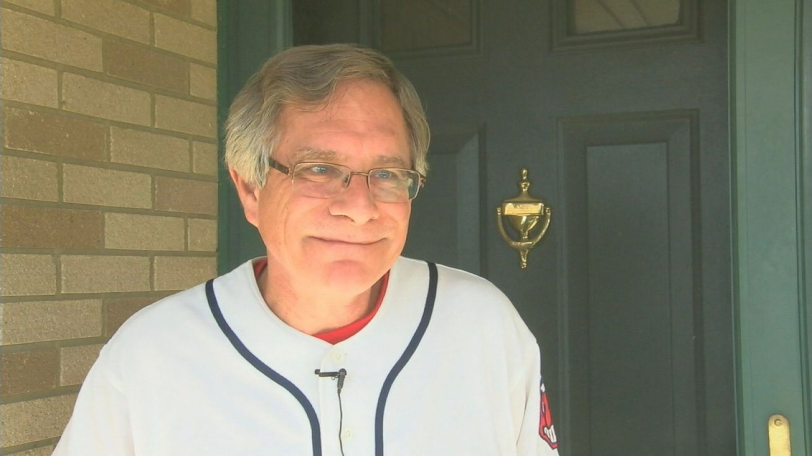 The former students of Struthers High School in Struthers, Ohio, rallied to have their teacher, Richard Gage, attend the World Series with his son Daniel, pictured here.