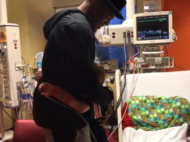 WATCH:  Cam Newton Fulfills Christmas Wish for Sick 10-Year-Old