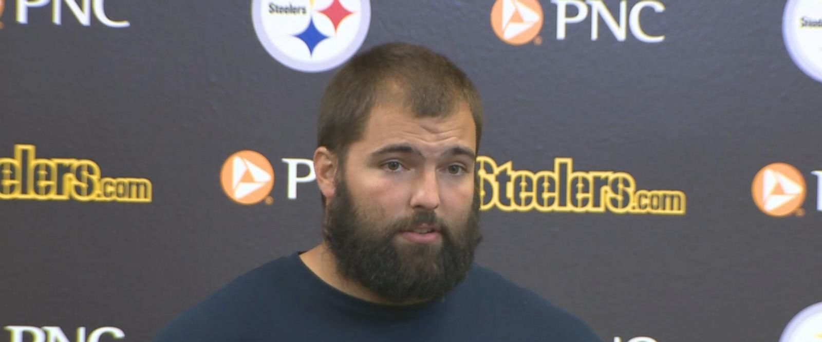 """Villanueva stood alone despite an agreement among team members to remain in the locker room during """"The Star-Spangled Banner."""""""