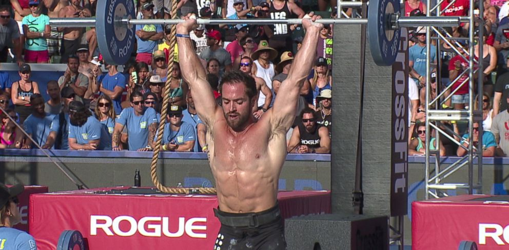 PHOTO: Richard Froning competes during the CrossFit Games.