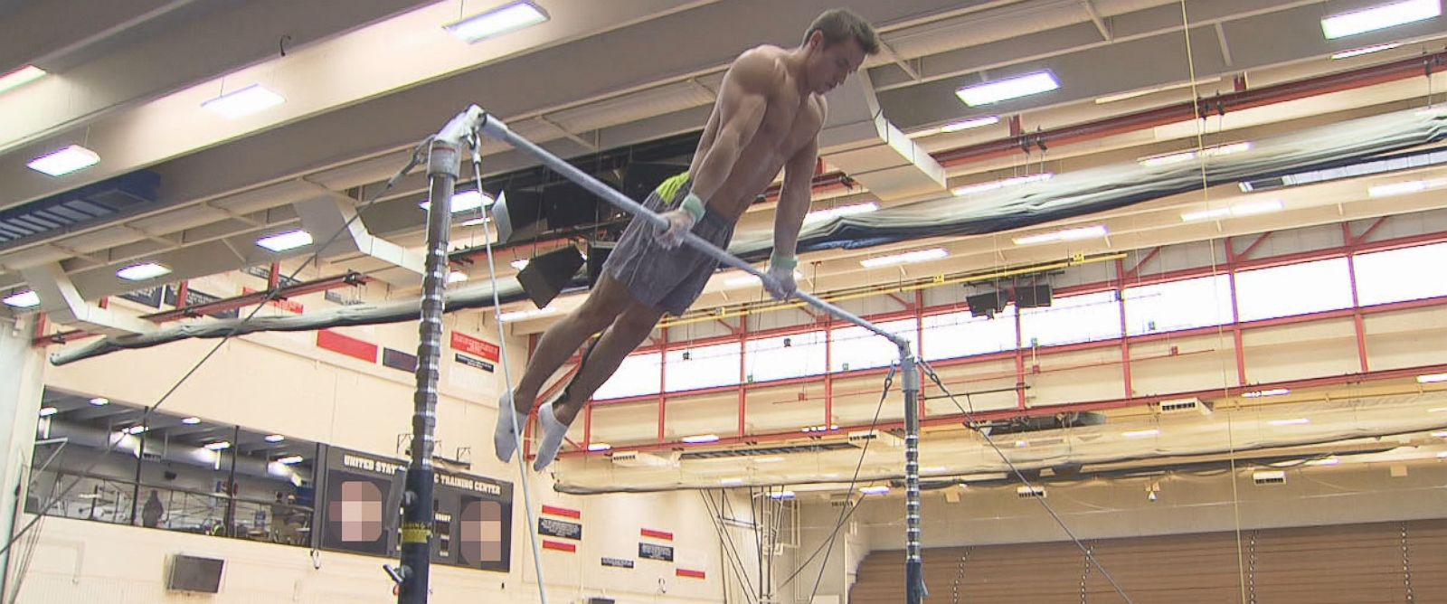 """PHOTO: ABC News """"Nightline"""" was invited to spend time with the U.S. Olympic mens gymnastics team during a training session in Colorado Springs, Colorado, for the 2016 Summer Games."""