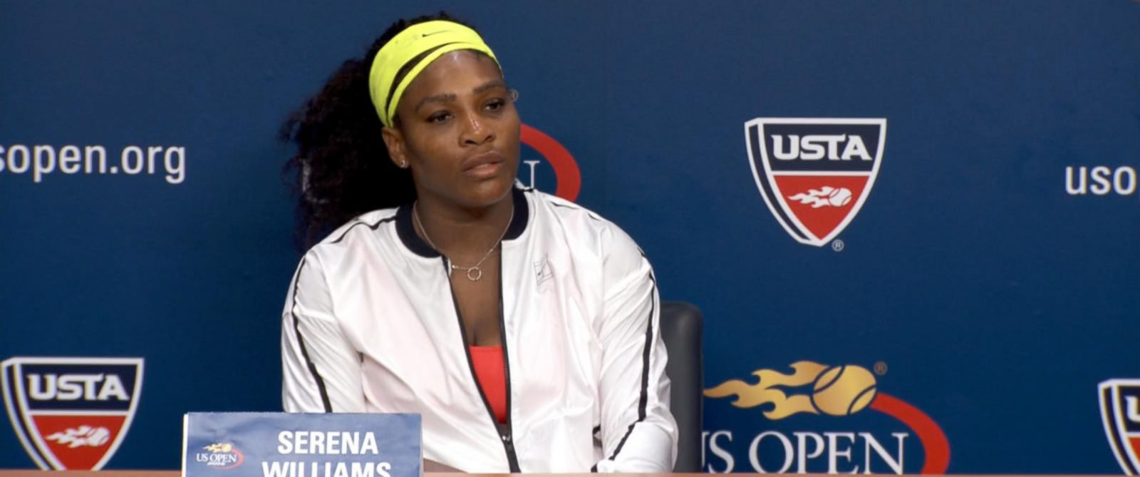 PHOTO: Serena Williams at a press conference in New York, Sept. 11, 2015.
