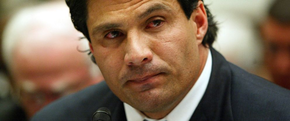 In this March 17, 2005 file photo, former Oakland Athletic and Texas Ranger baseball player Jose Canseco testifies on Capitol Hill in Washington, to examine the use of steroids in baseball.