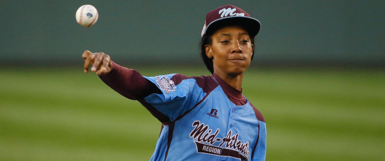 PHOTO: Philadelphia pitcher Mone Davis delivers in the first inning of a United States semi-final baseball game against Las Vegas at the Little League World Series tournament in South Williamsport, Pa., Aug. 20, 2014.