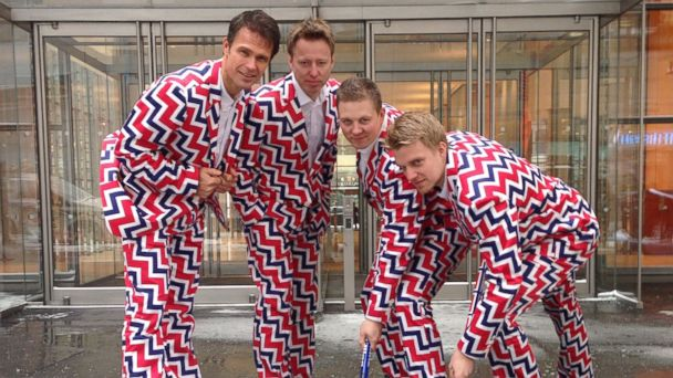 AP Norway Olympic ml 140121 16x9 608 Norways Olympic Curling Team Gets Funky in Sochi