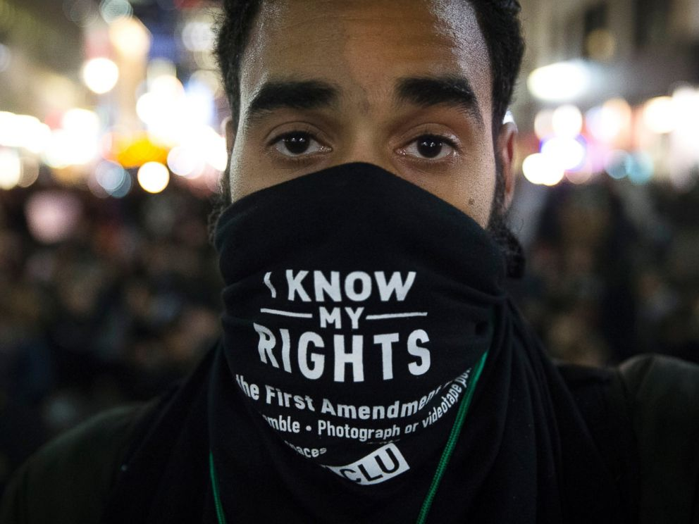PHOTO: Protesters occupy Herald Square during march, Dec. 4, 2014, in New York, against a grand jurys decision not to indict the police officer involved in the death of Eric Garner.