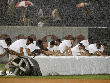 Yankee Stadium Grounds Crew Battles Mother Nature, Loses