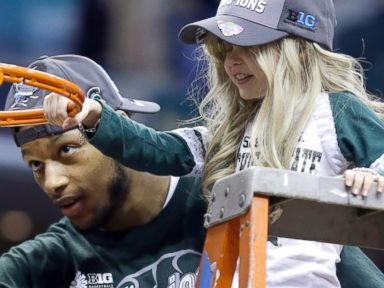 Young Cancer Patient Wins Over Heart of Michigan State Player