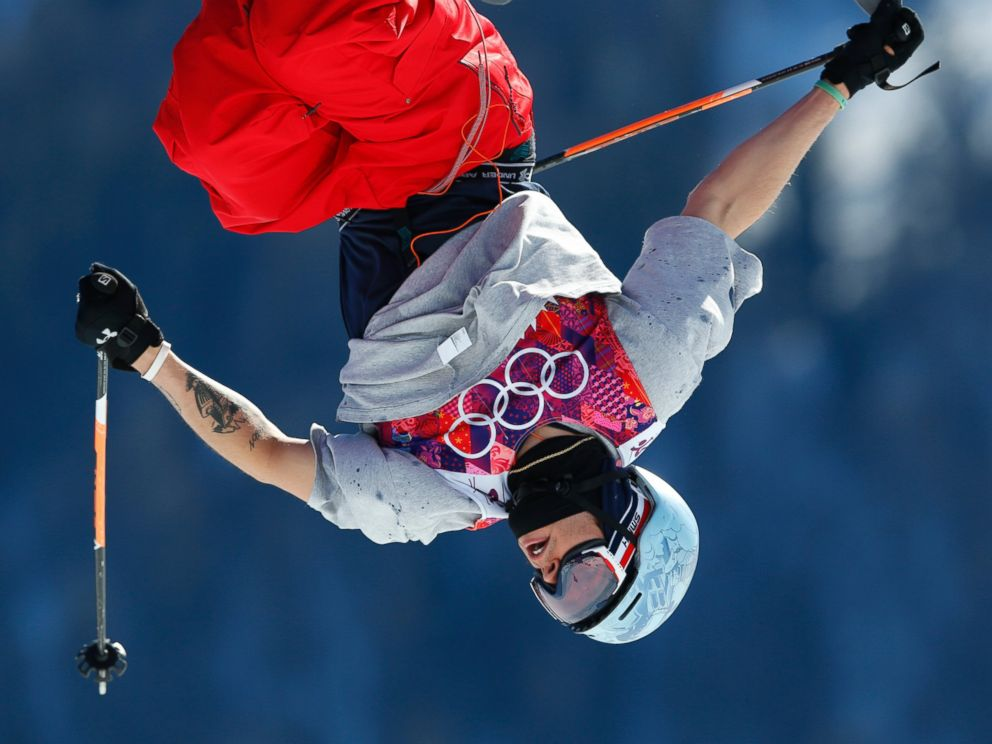 PHOTO: Bobby Brown of the United States jumps during a run in the mens ski slopestyle final at the Rosa Khutor Extreme Park, at the 2014 Winter Olympics, Feb. 13, 2014, in Krasnaya Polyana, Russia.