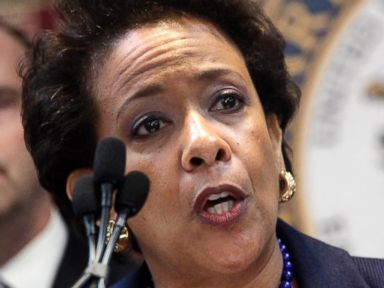 PHOTO: U.S. Attorney General Loretta Lynch announces an indictment against nine FIFA officials and five corporate executives for racketeering, conspiracy and corruption at a news conference, May 27, 2015, in the Brooklyn borough of New York.