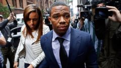 PHOTO: Ray Rice arrives with his wife Janay Palmer for an appeal hearing of his indefinite suspension from the NFL, Nov. 5, 2014, in New York.