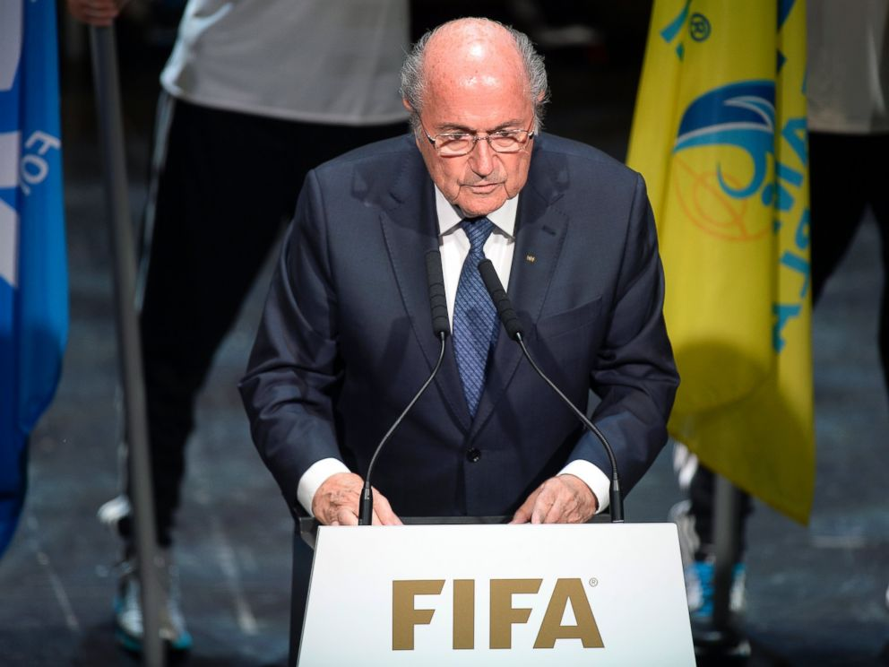 PHOTO: FIFA President Sepp Blatter speaks at the opening ceremony of the FIFA congress in Zuerich, Switzerland, May 28, 2015.