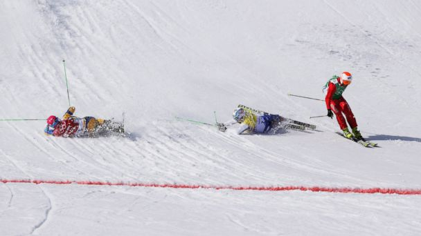 AP ski cross finish tk 140220 16x9 608 Photo Shows Why Ski Cross May Be Wildest Olympic Sport