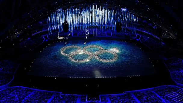 AP sochi closing ceremony ring that did not open jt 140223 16x9 608 Dancers Poke Fun at Opening Ceremony Olympic Ring Snafu