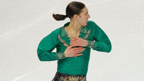 AP sochi jason brown free skate 1 jt 140209 16x9 608 Winter Olympics 2014: American Skaters Whip Their Hair Back and Forth in Sochi