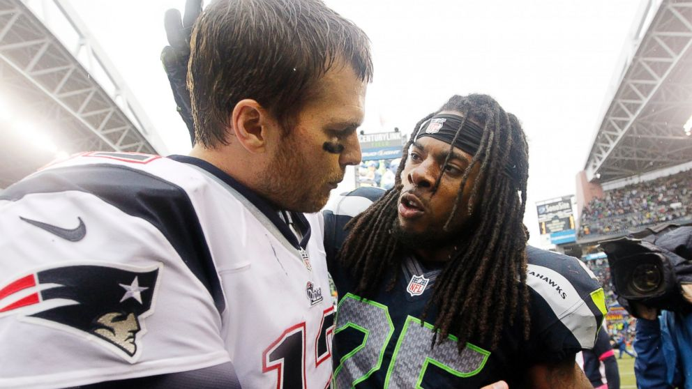 Richard Sherman Tom Brady U Mad