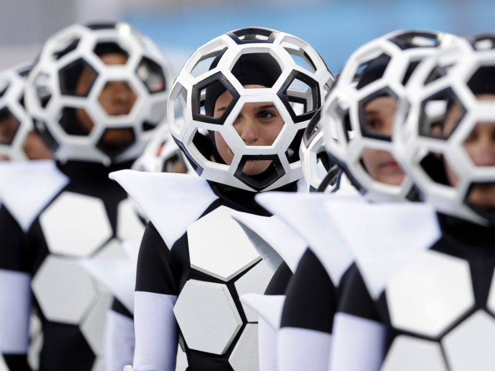 PHOTO: Actors perform during the opening ceremony before the group A World Cup soccer match between Brazil and Croatia, the opening game of the tournament, in the Itaquerao Stadium in Sao Paulo, Brazil, June 12, 2014.