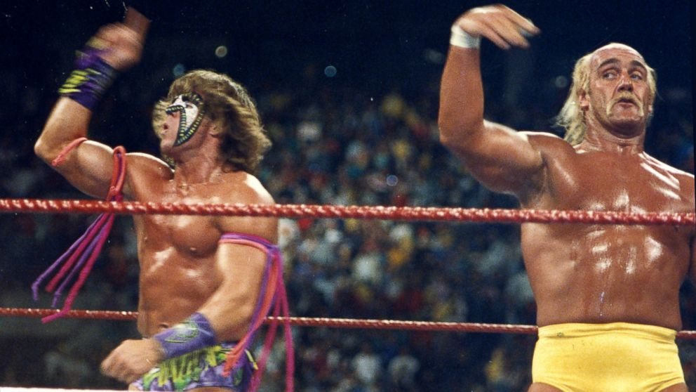PHOTO: The Ultimate Warrior won the WWE Heavyweight title from Hulk Hogan in 1989 at Wrestlemania VI in Toronto.