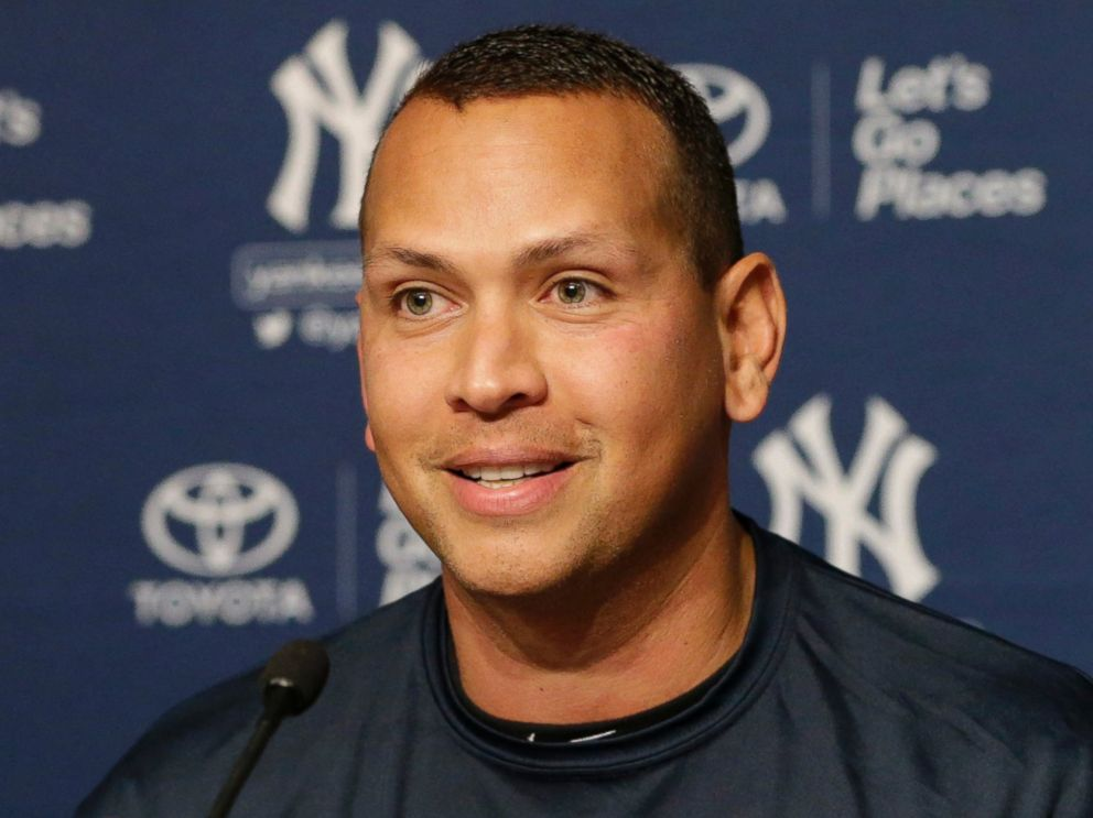 PHOTO: New York Yankees designated hitter Alex Rodriguez addresses the media to announce his retirement during a press conference at Yankee Stadium in the Bronx, New York, Aug. 87, 2016.