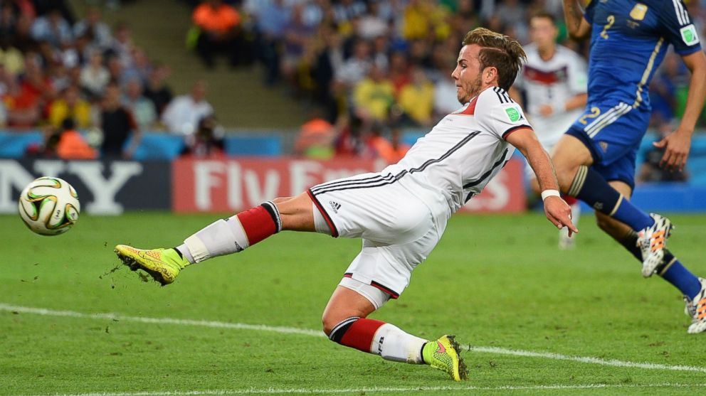 PHOTO: Mario Goetze of Germany during the 2014 FIFA World Cup Brazil Final match between Germany and Argentina at Maracana on July 13, 2014 in Rio de Janeiro, Bra