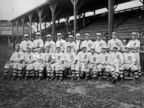 PHOTO: Team photo of the National Leagues Chicago Cubs baseball team, 1908 World Champions on the field at West Side Grounds, Chicago, Ill.