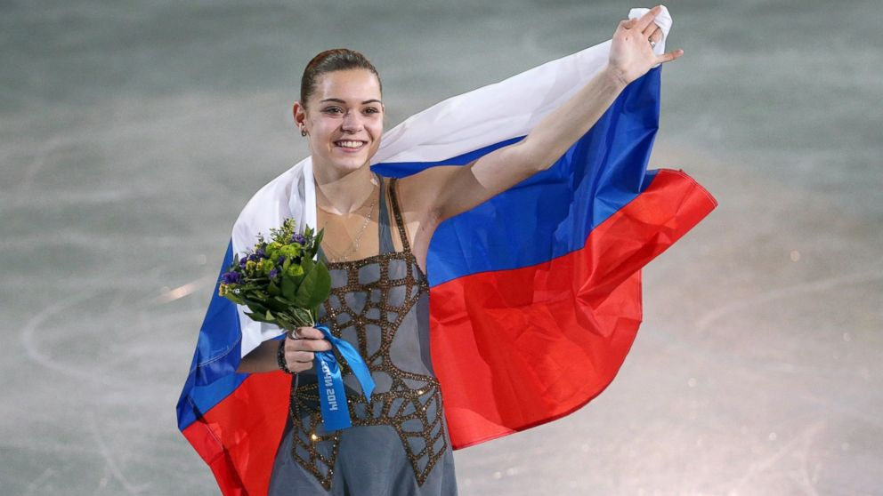 PHOTO: Adelina Sotnikova of Russia celebrates her gold medal in ladies figure skating during the 2014 Sochi Winter Olympics on Feb. 20, 2014 in Sochi, Russia.