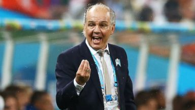 PHOTO: Head coach Alejandro Sabella of Argentina gestures during the 2014 FIFA World Cup Brazil Semi Final match between the Netherlands and Argentina at Arena de Sao Paulo on July 9, 2014 in Sao Paulo, Brazil.