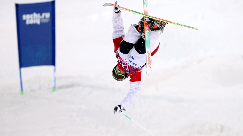 PHOTO: Alex Bilodeau of Canada competes in the Mens Moguls Finals on day three of the Sochi 2014 Winter Olympics at Rosa Khutor Extreme Park in Sochi, Russia, Feb. 10, 2014.