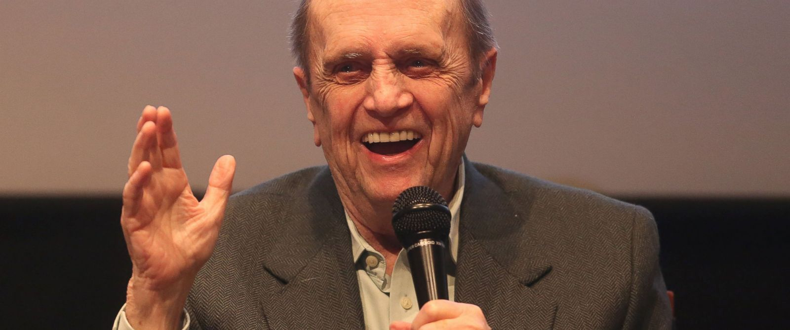 "PHOTO: Bob Newhart speaks during ""The Big Bang Theory"" Special Screening and Panel Discussion"