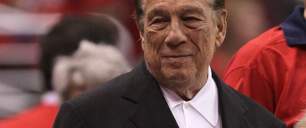 PHOTO: Los Angeles Clippers owner Donald Sterling stands on the sidelines before the game with the Memphis Grizzlies in Game Three of the Western Conference Quarterfinals in the 2012 NBA Playoffs on May 5, 2011 at Staples Center in Los Angeles, Calif.