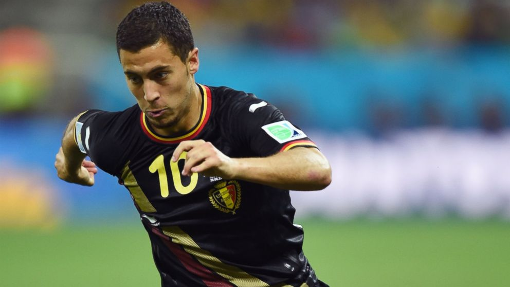 PHOTO: Eden Hazard of Belgium is pictured on June 26, 2014 in Sao Paulo, Brazil.