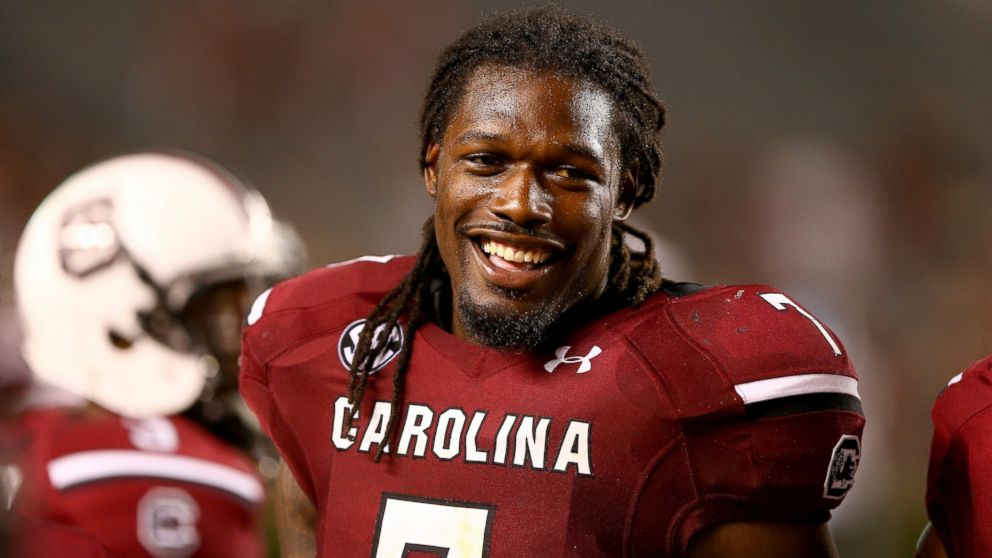 PHOTO: Jadeveon Clowney of the South Carolina Gamecocks during a game at Williams-Brice Stadium, Aug. 29, 2013 in Columbia, S.C.