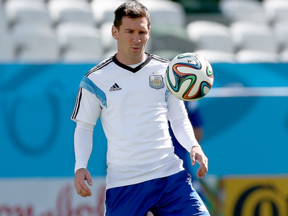 PHOTO: Lionel Messi of Argentina during a training session at Arena de Sao Paulo, June 30, 2014, in Sao Paulo.