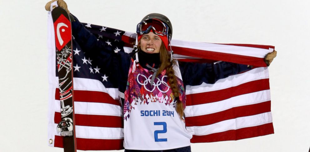 PHOTO: Maddie Bowman of the USA wins the gold medal during the womens freestyle skiing halfpipe at the Rosa Khutor Extreme Park, Feb. 20, 2014, in Sochi, Russia.