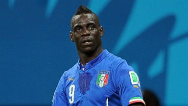 PHOTO: Mario Balotelli of Italy celebrates scoring his sides second goal during the 2014 FIFA World Cup Brazil Group D match between England and Italy at Arena Amazonia on June 14, 2014 in Manuas, Brazil.