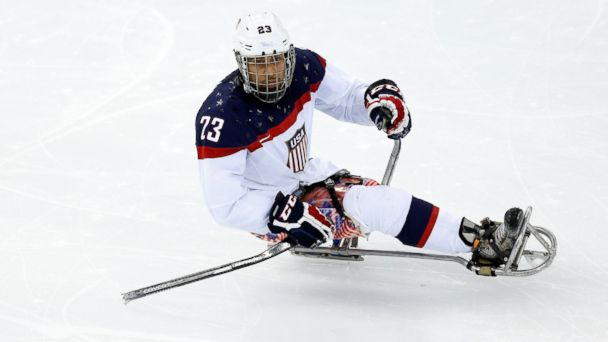 GTY rico roman jef 140314 16x9 608 Veteran Goes for Gold With Sled Hockey Team at Paralympics