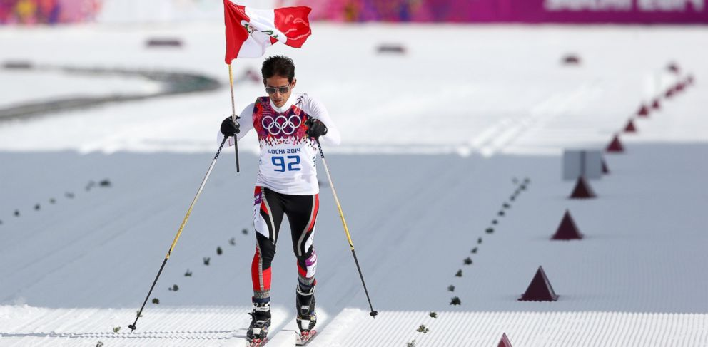 PHOTO: Roberto Carcelen of Peru competes in the Mens 15 km Classic during day seven of the Sochi 2014 Winter Olympics at Laura Cross-country Ski & Biathlon Center on Feb. 14, 2014 in Sochi, Russia.