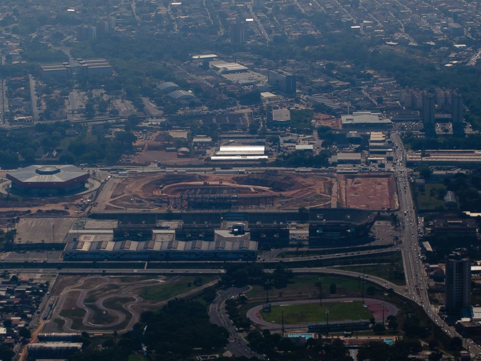 PHOTO: General view of construction work at the Arena Amazonia, formerly known as Vivaldao Stadium, in this Sept. 27, 2010, file photo in Manaus, Brazil.