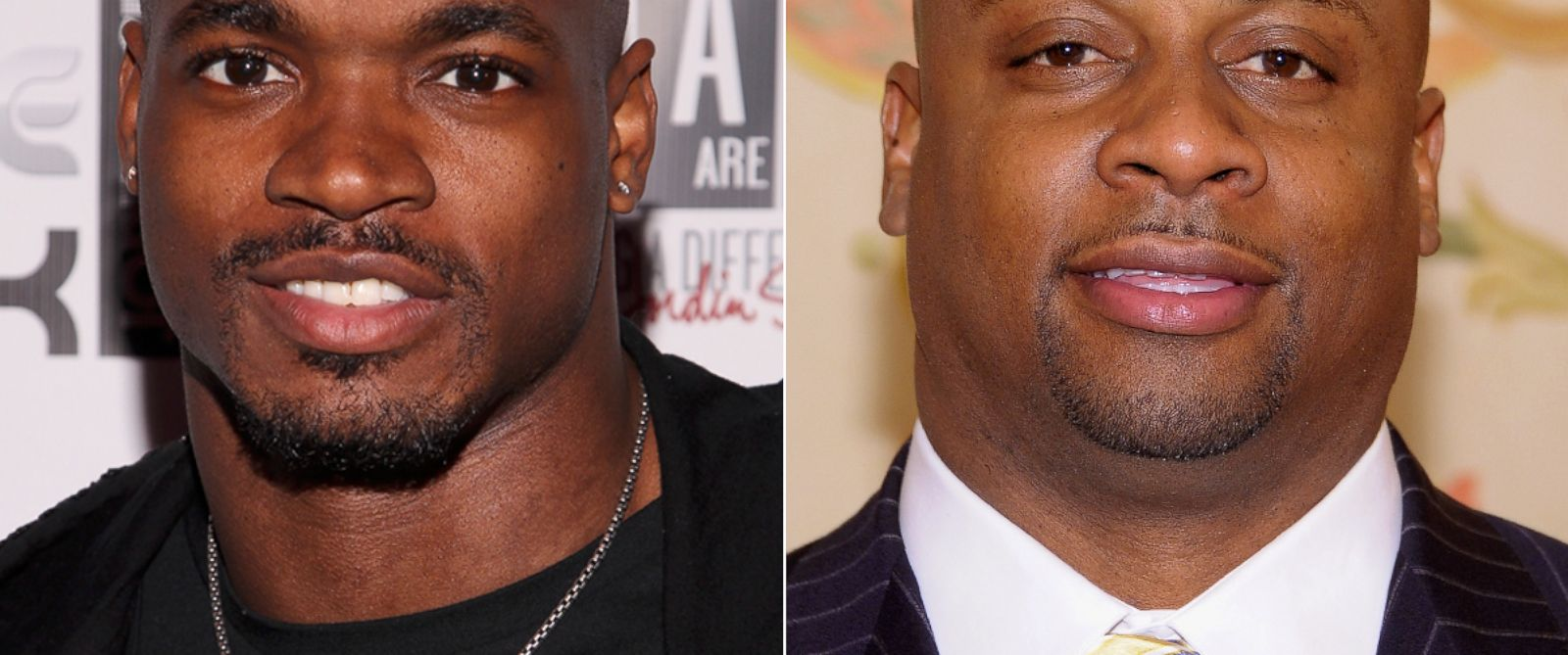 PHOTO: Adrian Peterson, Jan. 29, 2014, in New York. | Troy Vincent, March 6, 2012, in New York.