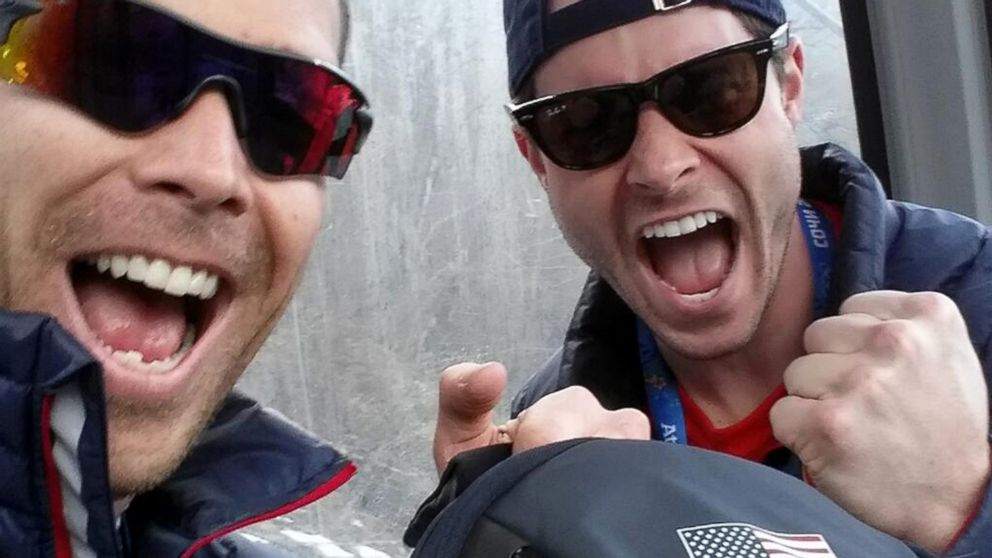 "PHOTO: Bobsledder Cory Butner shared this image, via his Twitter account, with the caption, ""With @StevenLangton #success #SochiSelfie"" Feb. 12, 2014, from Sochi, Russia."