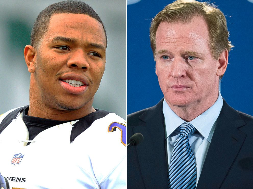 Ray Rice and NFL Commissioner Roger Goodell