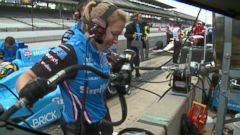 The second woman ever to work pit crew during the Indy 500 is Jessica Mace, a 27-year-old mechanic from Bellville, Ohio.