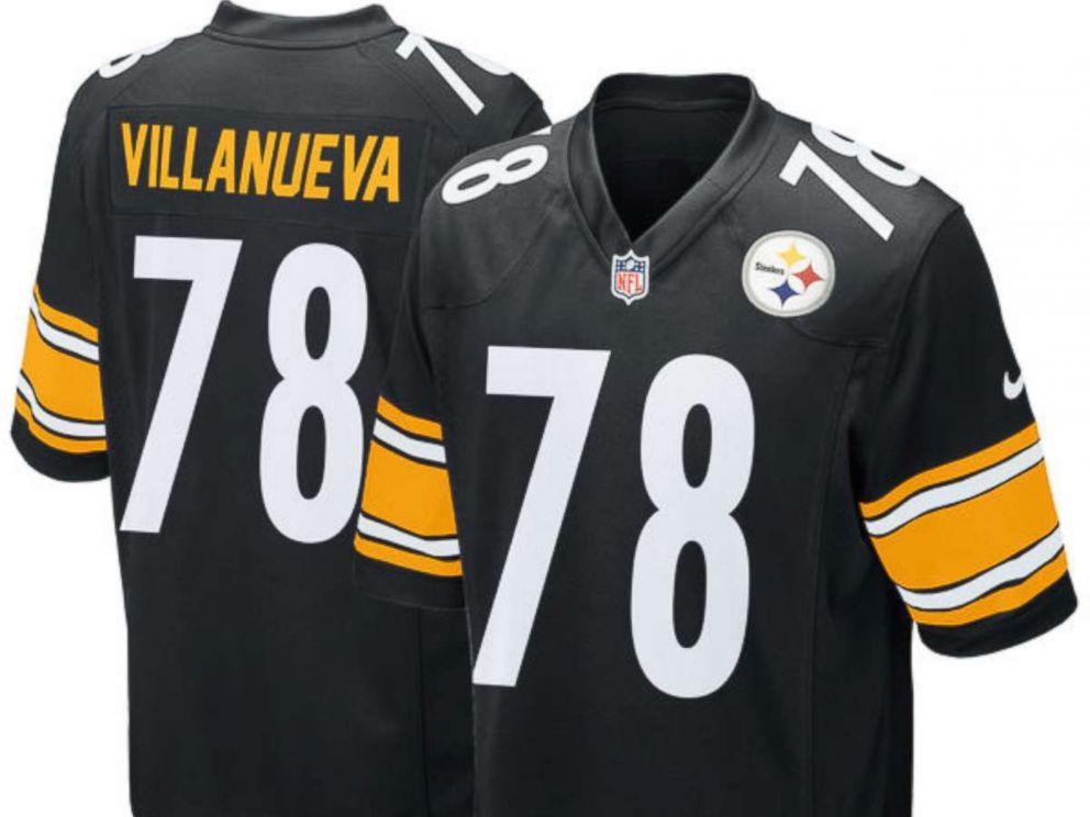 PHOTO: Pittsburgh Steelers Alejandro Villanuevas jersey.