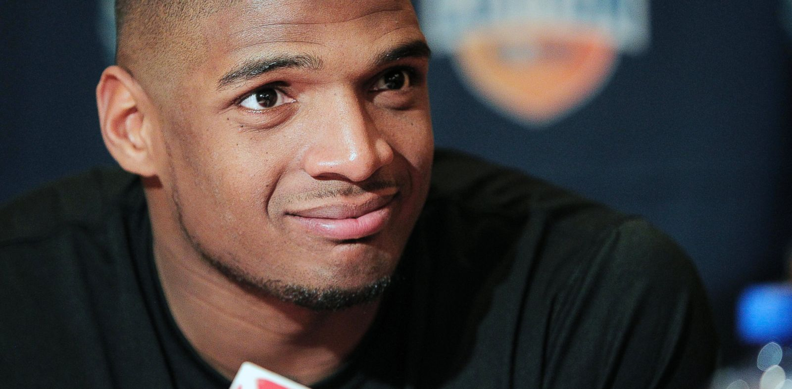 PHOTO: In this Jan. 1, 2014, file photo, Missouri senior defensive lineman Michael Sam speaks to the media during an NCAA college football news conference in Irving, Texas.