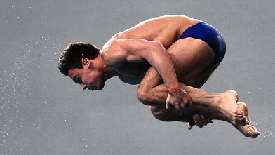 PHOTO: Tom Daley, of Great Britain competes in the Men's 10m Platform Final in Beijing,China, March 24, 2012.
